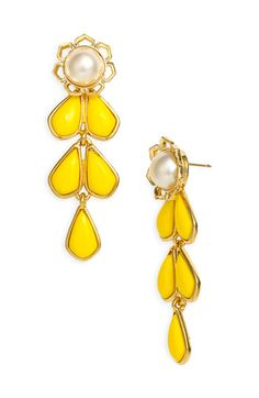 Sweet Zinnia chandelier earrings by Kate Spade NEW YORK