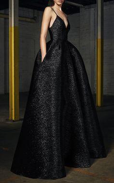 Falcon Lurex Bikini Pleat Gown by ALEX PERRY for Preorder on Moda Operandi
