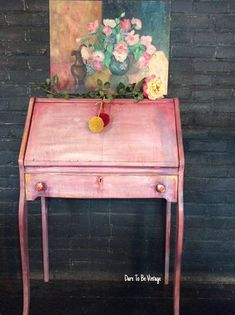 Bohemian Desk Painted Desk Shabby Chic Desk Rustic #paintedfurniture #ad
