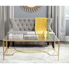 Quatrefoil Goldtone Metal and Glass Coffee Table - Overstock Shopping - Great Deals on Coffee, Sofa & End Tables