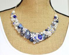 Sapphire Necklace Cobalt blue Necklace Something by BrassBoheme, $135.00