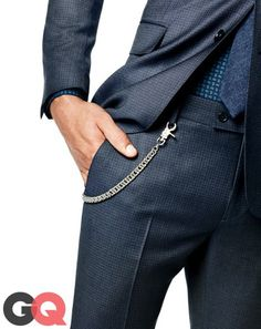 **12. Put a Leash on Your Cash** We're stealing this trick from punks and the Japanese: wallet chains with suits. When everything else is classic, a short chain hidden under your jacket hem adds a secret style hit. _Wallet chain by Chrome Hearts._