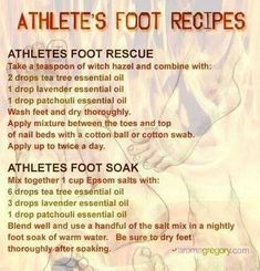 Young Living Essential Oils: Athletes Foot Fungus For more information, or to place an order, visit www.BibleOilsForHealth.com. by MyohoDane
