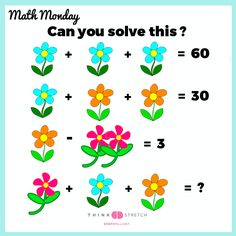 Time for Math Monday! Math Games For Kids, Educational Activities For Kids, Math Activities, Go Math, Math Talk, Math Challenge, Maths Puzzles, Third Grade Math, Math Resources
