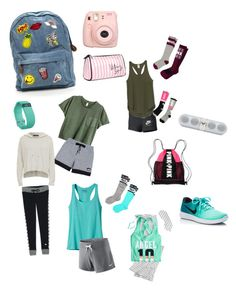"""""""Camping!"""" by rikey-byrnes on Polyvore featuring Fujifilm, Victoria's Secret, NIKE, adidas, Patagonia, Victoria's Secret PINK, Beats by Dr. Dre and Fitbit"""