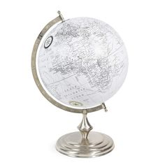 Mappamondo in plastica bianco D 30 cm CHELSEA
