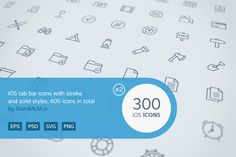 300 iOS Tab Bar icons by Rami McMin