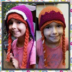 Disney Frozen Inspired Princess Anna Hat Wig Handmade Crochet in the USA #Handmade