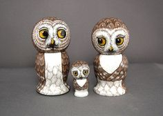 Owl+Family+Wedding+Cake+Toppers+Bride+Groom+Owl+by+SavageArtworks