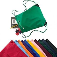 Cheap Drawstring Bags /Two Tone Pocket Cinch Pack black cotton ...