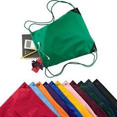 Nylon Drawstring Backpack with Front Pocket cheap nylon drawstring ...