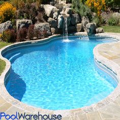 Get a in-ground Lagoon Mountain Loch Swimming Pool Kit from Pool Warehouse
