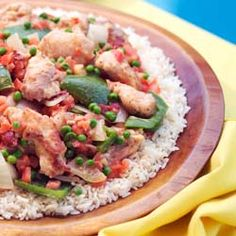 Stir-Fried Chicken with Tomatoes and Peppers – Pollo al Chilindron - This dish comes from the Aragon region of Spain. The Chino-Latino version uses ginger and soy sauce, while this Cuban dish gets its flavor from paprika, cumin, and of course a sofrito.  It produces delicious tender chicken in a thick, hearty sauce. Make sure to cut your peppers and onions in large chunks.