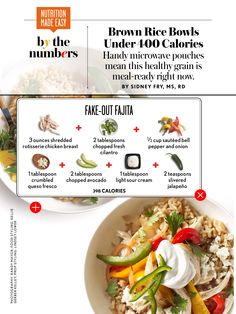 Fajita Rice Bowl calories