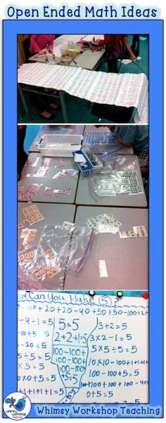 Open ended math ideas for multi-age classrooms or differentiation. Whimsy Workshop Teaching http://whimsyworkshop.blogspot.ca/