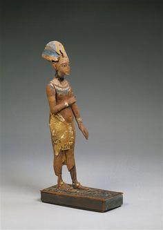 Statuette en bois du roi Akhenaton. Berlin, Ägyptisches Museum und Papyrussammlung.
