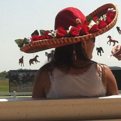 Hat at Will Rogers Downs in Claremore, Ok celebrating The Kentucky Derby.