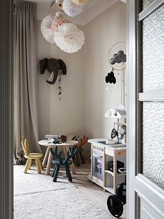 A Beautiful Swedish Home With Soul (my scandinavian home) - Kinderzimmer Scandinavian Kids Rooms, Creative Kids Rooms, Grey Room, Swedish House, Kids Room Design, Little Girl Rooms, Kids Furniture, Bedroom Furniture, Luxury Furniture