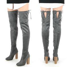 Cizme gri lungi pana la coapse Ti Knee Boots, Shoes, Fashion, Moda, Zapatos, Shoes Outlet, Fashion Styles, Knee Boot, Shoe