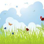 Knutsels thema lente, dieren, groot en klein
