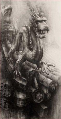 The Emperor's Dragon II » Ian Murphy Drawings