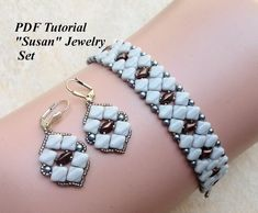 Beading Tutorial, Beaded Pattern, Silky Beads Tutorial, Beadweaving Pattern, Jewelry Pattern, Bead Pattern, DIY Jewelry, Susan Jewelry Set This PDF beading tutorial includes beading instructions for an elegant, beaded jewelry set. Materials: - Silky beads; - Toho seed beads; - 3 mm
