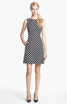 I swear, everything kate spade makes is like something out of Quadrophenia or Alice in Wonderland. Dress lust!   kate spade new york 'domino' print cotton & silk dress #Nordstrom