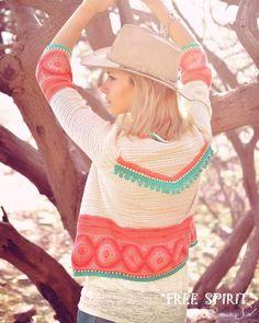 Adelanto de nuestra nueva colección cápsula GITANA 💃 ✓ Sweter GYPSY #gypsy #gypsystyle #hippie #hippiestyle #hippielove #hippiechic… Kimono Crochet, Crochet Jacket, Knit Jacket, Knit Crochet, Hippie Crochet, Crochet Summer, Crochet Woman, Hippy Chic, Boho Chic