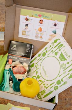 Kidstir Cooking Kit subscription box designed to get your kids in the kitchen with you.