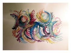 Watercolor Tattoo, Rooster, Tattoos, Animals, Watercolour, Finding Nemo, Tatuajes, Animales, Animaux