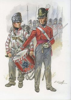British Regiment, Wellington's old unit. Waterloo 1815, Battle Of Waterloo, Hundred Days, Army Uniform, Napoleonic Wars, British Army, Military History, Troops, 19th Century