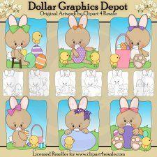 Easter Bunnies - Combo Set