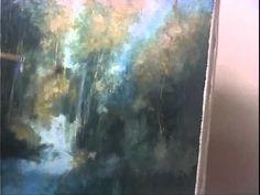 """How to paint"" waterfall reflections  Part 5/15 - Como pintar reflecciones de una cascada"