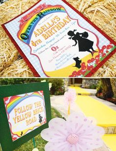 Rainbow-Wizard-of-Oz-themed party