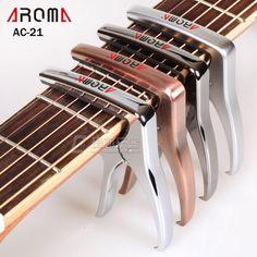 AROMA AC-21 Guitar Capo Metal Alloy Versatile Guitar Capo with Bridge Pin Puller Capotraste #Affiliate