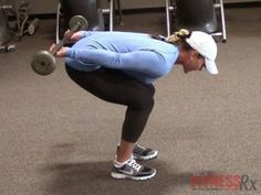 Triceps Kickback Variation: Work your arms, back and legs. Check out the video and give it a try!