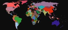 Average colour hue of world flags. Learn more at Brilliant Maps