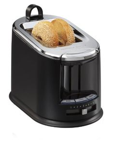 Hamilton Beach SmartToast Extra-Wide Slot 2 Slice Toaster with Tongs -- See this…