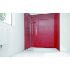 Wickes Crimson Acrylic 1200x900mm 2 sided Shower Panel Kit