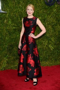 Patricia Clarkson in Alexander McQueen. See what everyone wore to the 2015 Tony Awards.