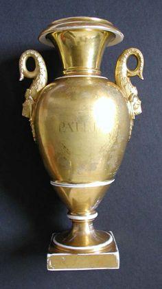 Art Conservation & Restoration Sergey Konstantinov Important Old Paris porcelain vase with portrait Benjamin Franklin.19th.