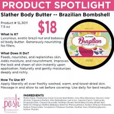 Be a Bombshell!! #brazilian #lotion #slather #bombshell #beauty #spa #perfectlyposh