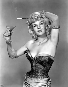 "Vintage corset! ""And now that I've polished off my martini, I think I'll use it as an ashtray!"""