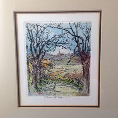 Vintage Robert Kasimir Color Etching Landscape - Signed #Vintage