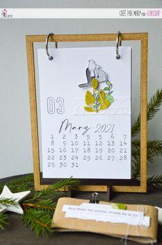 "Mary : #Tampons et #matrices de coupe #dies #4enSCRAP ""#Kalender 2021"" #scrapbooking #DIY #Deutsch #Monat Mars Et Avril, Big Bisous, Monat, Home And Deco, Scrapbooking, Frame, Home Decor, Calendar Templates, Birthday Calendar Board"