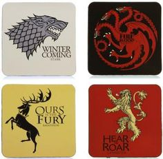 Game of Thrones Coasters Set