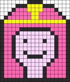 Princess Bubblegum  Adventure Time perler bead pattern