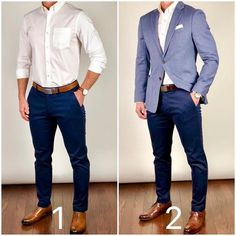 Jacket or no jacket❓Which way would you wear it❓🤔🤷🏼♂️ Also, lighter shoes/belt or darker❓ Belts: Shoes left side: Pants, shirt, blazer: Mens Fashion Blazer, Big Men Fashion, Gents Fashion, Suit Fashion, Fashion Pants, Mens Semi Formal Outfit, Formal Dresses For Men, Gq Mens Style, Men Style Tips