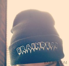 Hey, I found this really awesome Etsy listing at http://www.etsy.com/listing/127560280/bajues-braindead-black-beanie