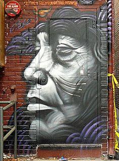Street art near Queen and Spadins, Toronto